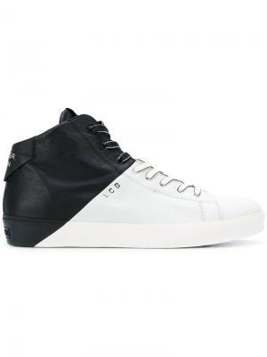 Кроссовки в двух тонах Leather Crown. Цвет: чёрный