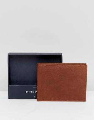Peter Werth Светло-коричневый бумажник. Цвет: рыжий