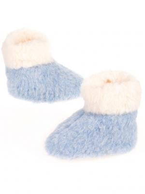 Тапочки ALWERO. Цвет: голубой, молочный