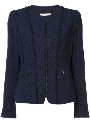 Zipped pockets fitted jacket Rebecca Taylor. Цвет: синий
