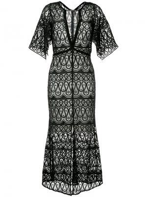 Платье Serpentine Manning Cartell. Цвет: чёрный