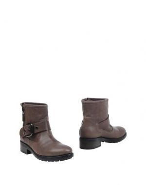Полусапоги и высокие ботинки ALBERTO GOZZI. Цвет: свинцово-серый