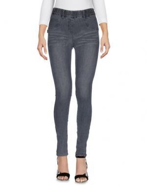 Джинсовые брюки LEGZ. Цвет: серый