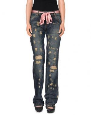 Джинсовые брюки TRUST TOILETTE. Цвет: синий