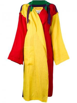 Легкое пальто свободного кроя Jc De Castelbajac Vintage. Цвет: многоцветный