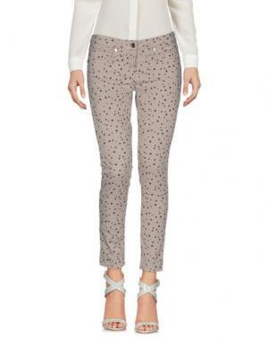Повседневные брюки OSSO GOCCIA. Цвет: светло-серый