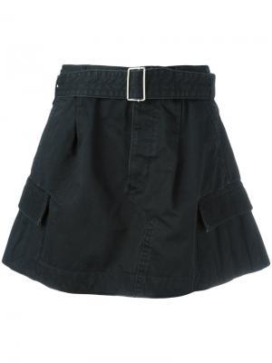 Юбка в стиле карго с ремнем Marc Jacobs. Цвет: чёрный