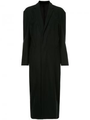 Пальто мешковатого кроя 08Sircus. Цвет: чёрный