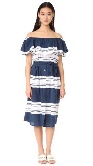 Макси-платье Majorca FAITHFULL THE BRAND. Цвет: клермонтская полоска