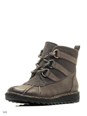 Ботинки Clarks. Цвет: зеленый