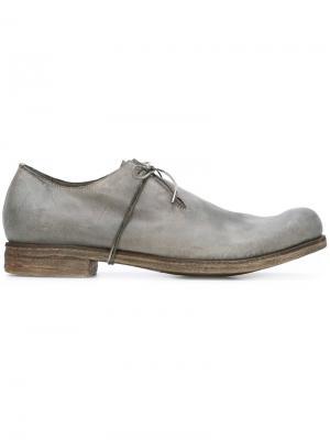 Туфли-дерби с закругленным носком A Diciannoveventitre. Цвет: серый
