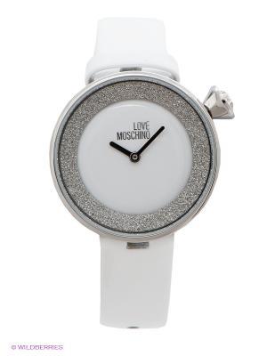 Часы MOSCHINO. Цвет: белый, серебристый