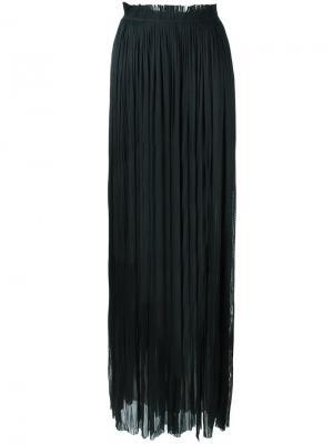 Плиссированная длинная юбка Maria Lucia Hohan. Цвет: чёрный
