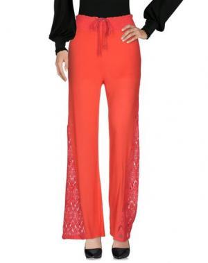 Повседневные брюки ANGELA MELE MILANO. Цвет: коралловый