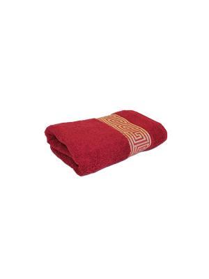 Полотенце махровое PROFFI HOME Классик, 30х50см, бордовый. Цвет: бордовый