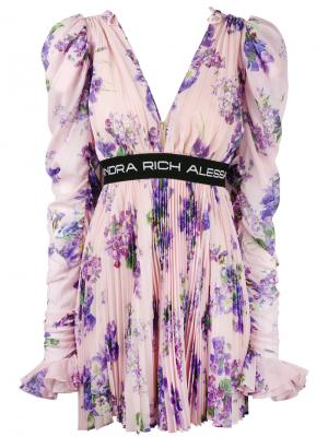 Floral print pleated dress Alessandra Rich. Цвет: многоцветный