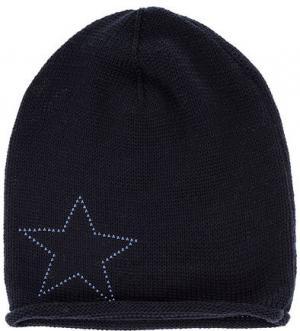 Трикотажная шапка с декоративной отделкой Capo. Цвет: синий