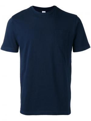 Футболка с накладным карманом Aspesi. Цвет: синий