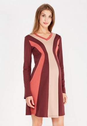 Платье 40 недель. Цвет: бордовый