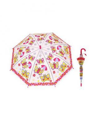 Зонт NeKi. Цвет: фиолетовый, светло-коралловый