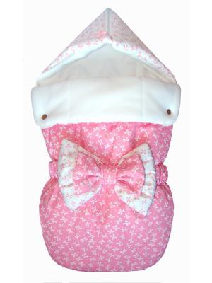 Конверт на выписку JustCute Джульетта Pink (лето) СуперМаМкет. Цвет: розовый, белый
