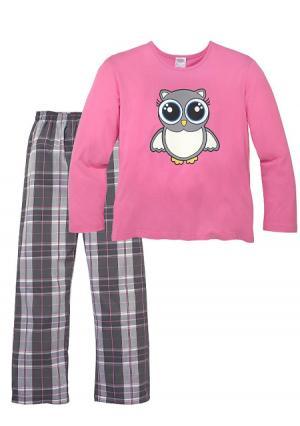 Пижама PETITE FLEUR. Цвет: розовый в клетку