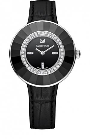 Наручные часы Octea Dressy Swarovski. Цвет: черный