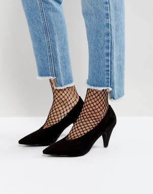 Raid Черные туфли на каблуке Amber. Цвет: черный