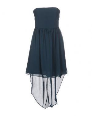 Короткое платье DUCK FARM. Цвет: цвет морской волны