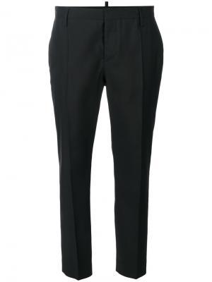 Классические укороченные брюки Dsquared2. Цвет: чёрный