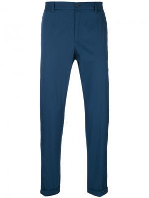 Брюки строгого кроя Dolce & Gabbana. Цвет: синий