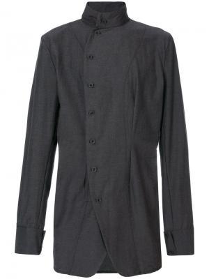 Рубашка со смещенной застежкой Alchemy. Цвет: серый