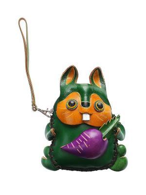 Кошелек Gusachi. Цвет: зеленый, фиолетовый, желтый