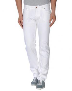 Джинсовые брюки NWY NEVER WITHOUT YOU. Цвет: белый