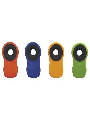Стакан Glasslock GL-1032 380мл д/горячих напитков. Цвет: прозрачный, бирюзовый