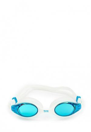 Очки для плавания TYR. Цвет: белый