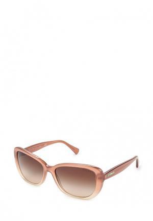 Очки солнцезащитные Ralph Lauren. Цвет: бежевый