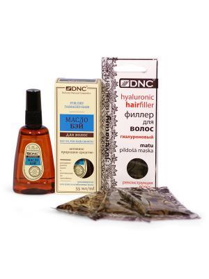Набор для волос: Масло Бэй и Филлер (55 мл; 3х15мл) DNC. Цвет: прозрачный, светло-желтый