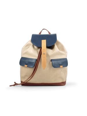 Рюкзак IGOR YORK. Цвет: бежевый, желтый, темно-синий, коричневый