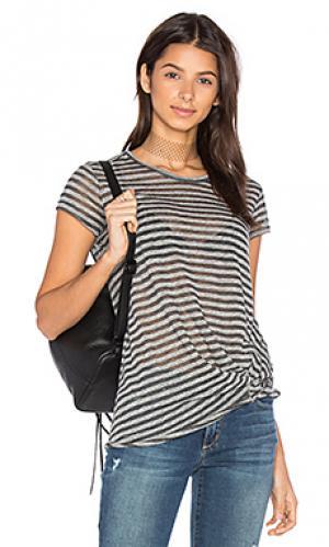 Полосатая футболка с переплетом Stateside. Цвет: серый