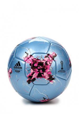 Мяч футбольный adidas Performance. Цвет: голубой