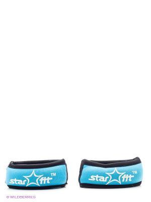 Утяжелитель, 2 шт.  STAR FIT WT-101 для рук Браслет, 0,25 кг, синий/черный Starfit. Цвет: синий, черный