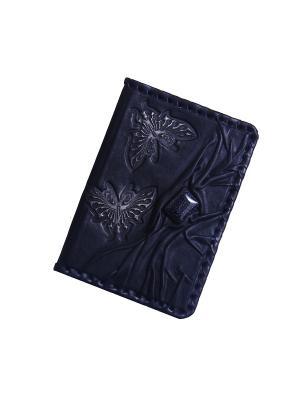 Обложка для паспорта Кажан. Цвет: синий