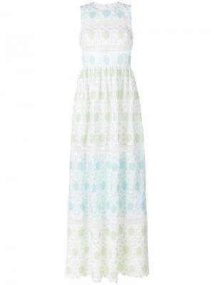Вязаное крючком платье с цветами Huishan Zhang. Цвет: многоцветный