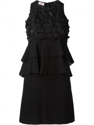 Платье с макраме без рукавов Giamba. Цвет: чёрный
