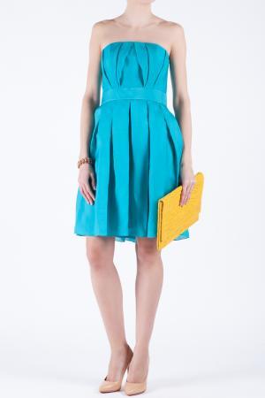 Шелковое платье Jay Ahr. Цвет: голубой