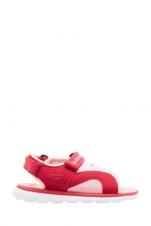 Розовые сандалии с отделкой Reima. Цвет: красный