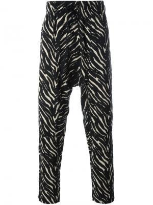 Брюки Zebra Tom Rebl. Цвет: чёрный