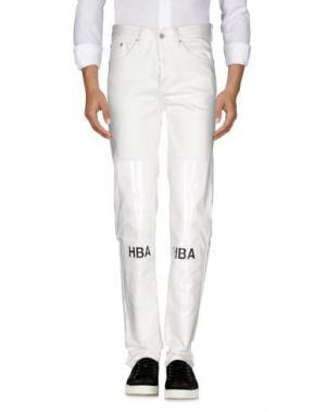 Джинсовые брюки HBA HOOD BY AIR. Цвет: белый