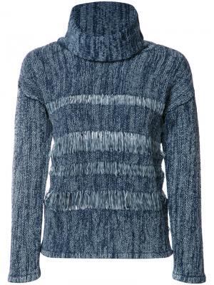 Джемпер с высокой горловиной Ag Jeans. Цвет: синий
